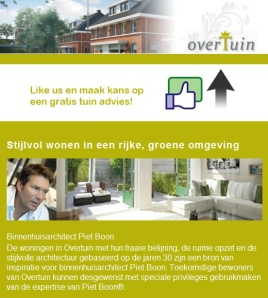 Facebook pagina Project Sterrenberg Overtuin